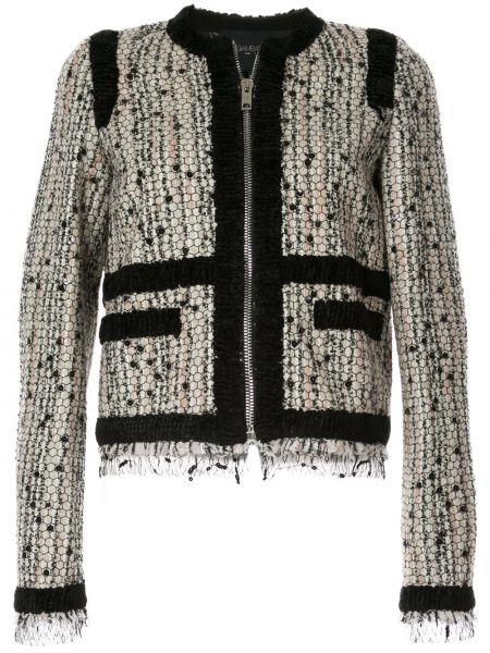 Приталенный белый пиджак с карманами Giambattista Valli