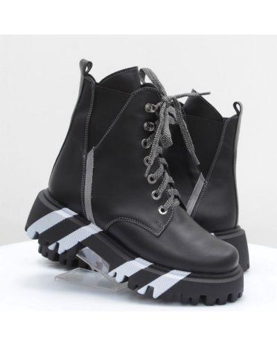 Кожаные ботинки - черные Vitlen