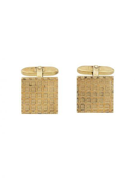 Запонки золотые винтажные квадратные Katheleys Vintage