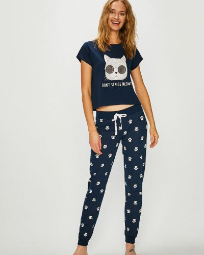 Пижама с брюками хлопковая трикотажная Answear