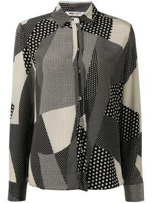 Шелковая рубашка - черная Ports 1961