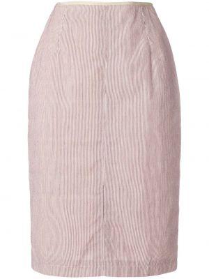 Приталенная ажурная юбка миди винтажная в рубчик Jean Paul Gaultier Pre-owned