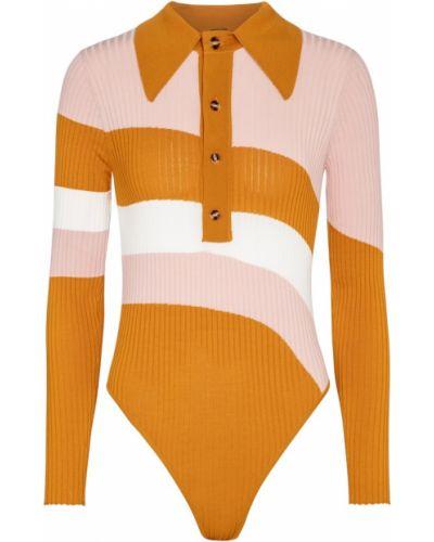 Рубашка в полоску - оранжевая Dodo Bar Or