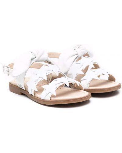 Białe sandały peep toe Florens