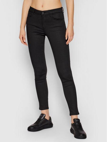 Czarne jeansy skinny Wrangler