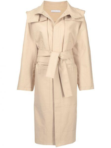 Пальто с капюшоном - коричневое Rejina Pyo