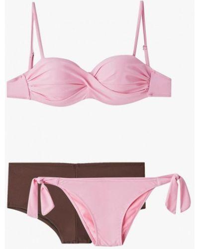 Купальник розовый коричневый Pur Pur