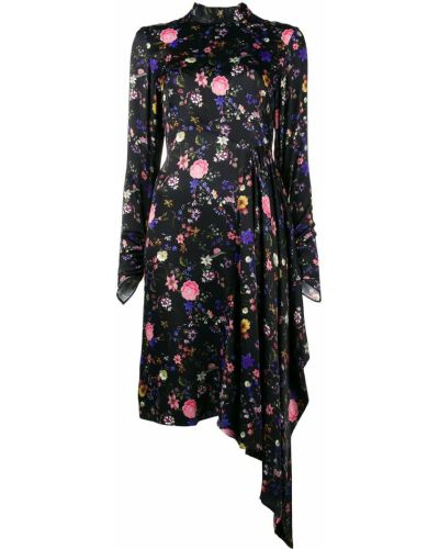Платье с бантом черное Osman