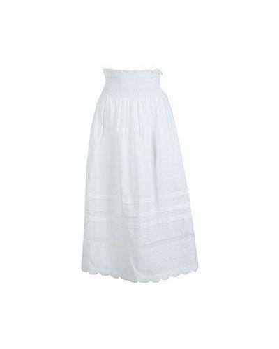 Повседневная белая хлопковая юбка миди Valentino Red