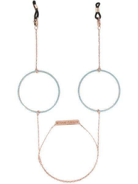 С цирконием розовые очки Frame Chain