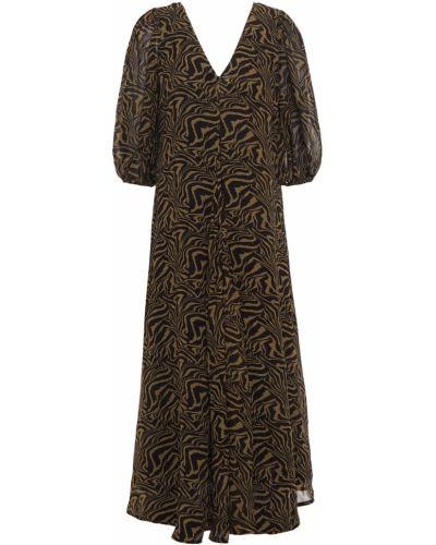 Шифоновое платье миди - зеленое Ganni