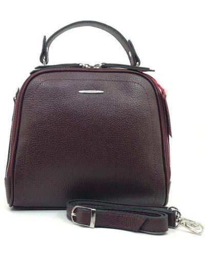 Кожаная сумка - бордовая Eminsa