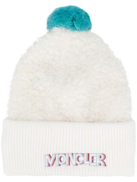 Prążkowany niebieski kapelusz Moncler Grenoble