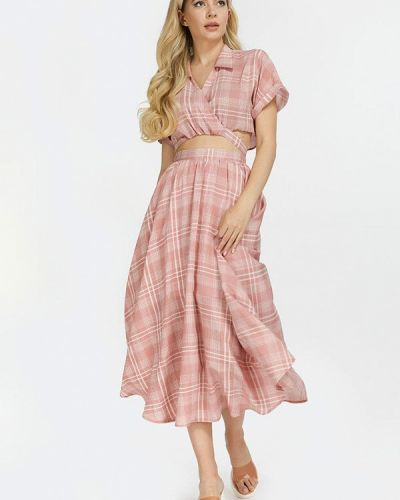 Розовый костюм летний Clever Woman Studio