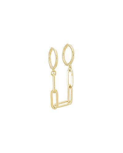 Золотые серьги металлические золотые Adina's Jewels