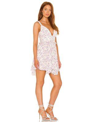 Бежевое текстильное платье мини на молнии Majorelle
