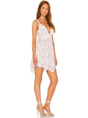 Sukienka mini elegancka - fioletowa Majorelle