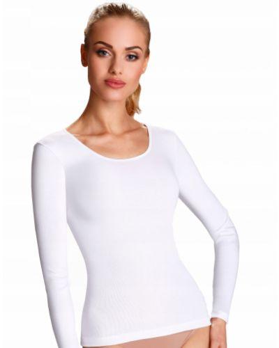 Biała bluzka z długimi rękawami bawełniana Eldar