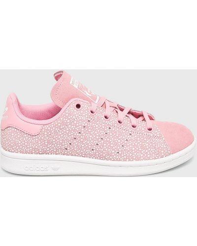 Кроссовки кожаные розовый Adidas Originals