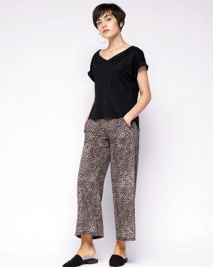 Укороченные брюки с карманами с поясом Fiato