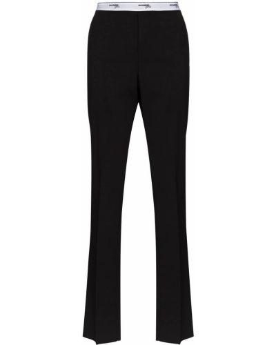 Prosto kostium czarny wełniany spodni garnitur Hommegirls