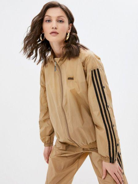 Коричневая весенняя толстовка Adidas Originals