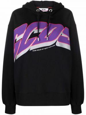 Черный хлопковый пуловер Gcds