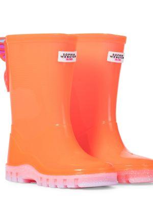 Pomarańczowy buty z motylem Sophia Webster Mini