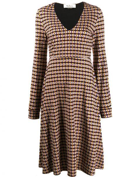 Приталенное платье миди - серое Mulberry