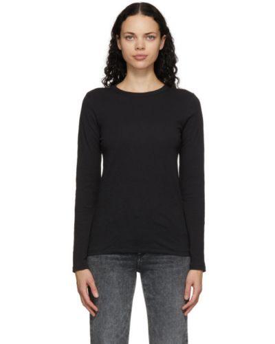 Bawełna czarny koszula z kołnierzem z długimi rękawami Rag & Bone