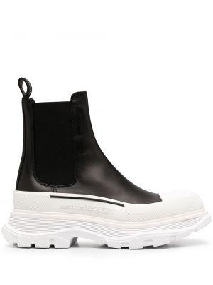 Массивные черные кожаные ботинки челси Alexander Mcqueen