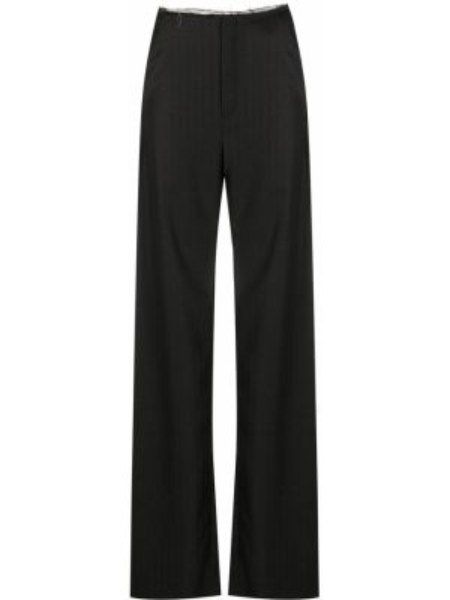 Черные свободные брюки с нашивками с карманами свободного кроя Litkovskaya