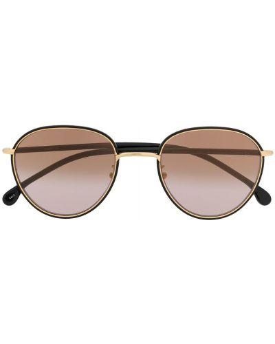 Прямые муслиновые черные солнцезащитные очки круглые Paul Smith Eyewear