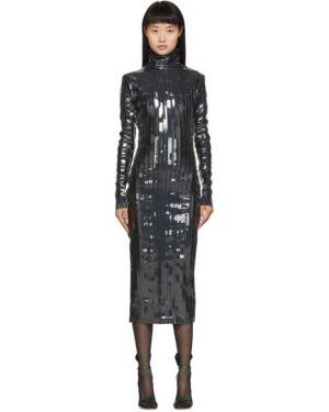 Платье макси с прозрачными рукавами с отложным воротником Y Project