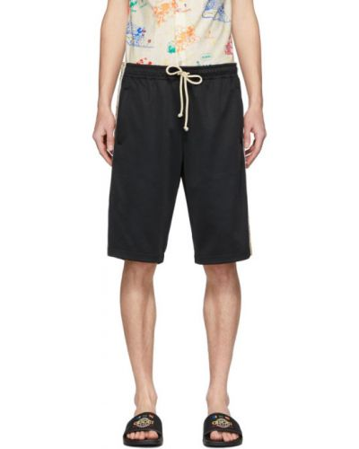 Трикотажные черные шорты с карманами Gucci