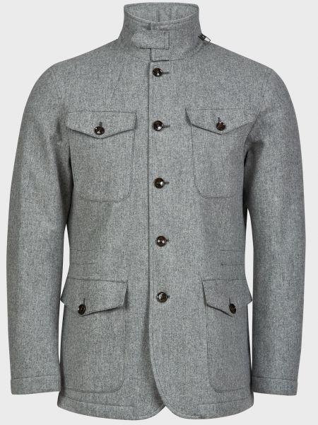 Пальто на пуговицах - серое Montecore