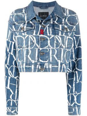 Синяя джинсовая куртка John Richmond
