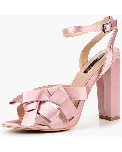Босоножки на каблуке розовый Lost Ink.
