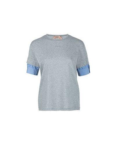 Хлопковая футболка - серая No.21