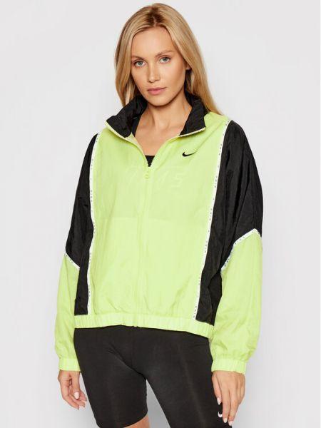 Żółta kurtka przejściowa Nike