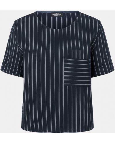 Блузка с короткими рукавами - синяя Laurèl