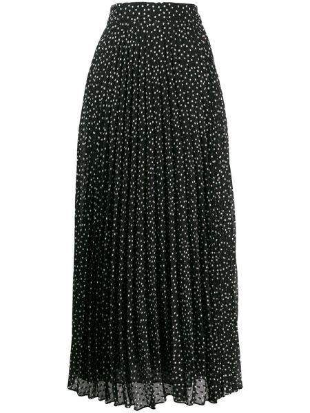 Spódnica maxi z nadrukiem z wysokim stanem Emporio Armani