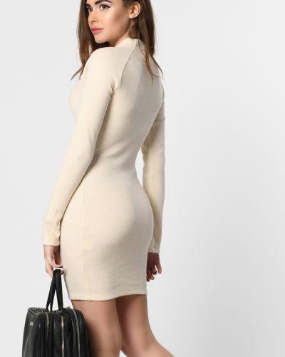 Облегающее вязаное платье мини с длинными рукавами G&m