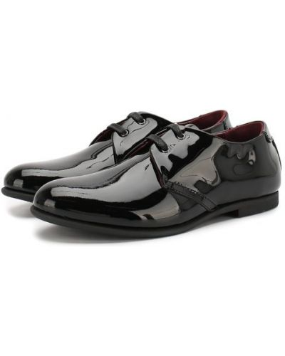 Туфли черные с логотипом Dolce & Gabbana
