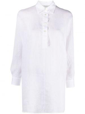 С рукавами белая классическая рубашка с воротником Antonelli
