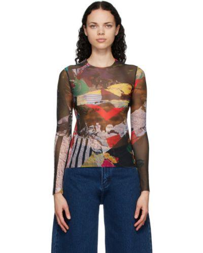 Nylon z rękawami koszula z mankietami rozciągać Marques Almeida