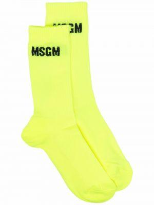 Желтые носки из эластана Msgm