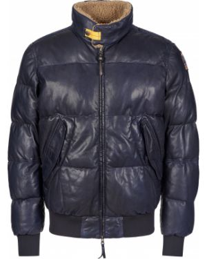 Кожаная куртка из овчины - синяя Parajumpers
