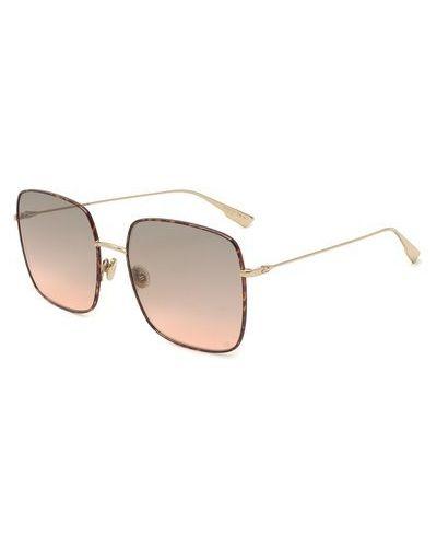Серые солнцезащитные очки квадратные металлические Dior
