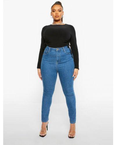 Зауженные джинсы - синие Boohoo